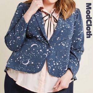 ModCloth 1X Stargazing Splendor Blazer Jacket NWOT